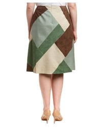 Lafayette 148 New York - Brown Plus Josephine Suede Skirt - Lyst