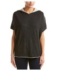 Splendid | Black Hooded Wool & Cashmere-blend Poncho | Lyst