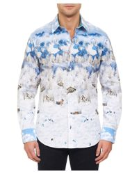 Robert Graham | Blue Valhalla Limited Edition Woven Classic Fit Shirt for Men | Lyst