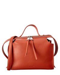 Jil Sander | Brown Clover Leather Satchel | Lyst