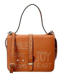 RED Valentino   Brown Single Handle Leather Tote   Lyst