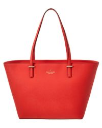 kate spade new york | Red Cedar Street Small Harmony Leather Tote | Lyst
