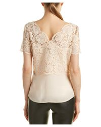 The Kooples - Natural Lace Blouse - Lyst