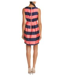 Sail To Sable - Red Silk-blend A-line Dress - Lyst