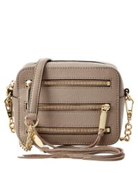 Rebecca Minkoff | Brown 4 Zip Moto Leather Camera Bag | Lyst