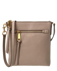 Marc Jacobs | Natural Recruit Leather Crossbody | Lyst