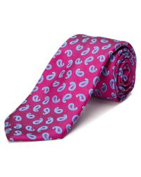Ted Baker | Red Purple Swimming Pine Silk Tie for Men | Lyst