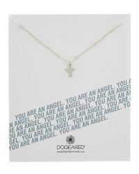 Dogeared | Metallic Silver You Are An Angel Teeny Angel | Lyst