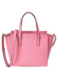 kate spade new york | Pink Cedar Street Small Hayden Leather Tote | Lyst