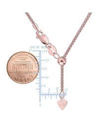 JewelryAffairs - Pink 14k Rose Gold Adjustable Popcorn Link Chain Necklace, 1.3mm, 22 - Lyst