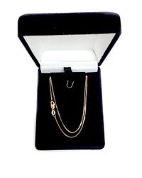 JewelryAffairs - Pink 14k Rose Gold Classic Mirror Box Chain Necklace, 0.8mm - Lyst