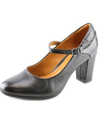 Clarks | Bavette Cathy Women Round Toe Leather Black Mary Janes | Lyst