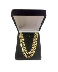 JewelryAffairs - 14k Yellow Gold Miami Cuban Link Chain Necklace - Width 4.4mm for Men - Lyst