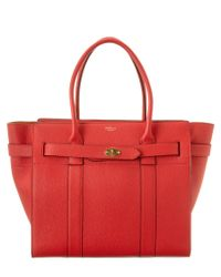 Mulberry   Red Zipped Bayswater Small Leather Tote   Lyst