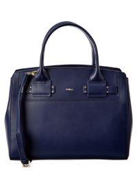 Furla | Blue Lucky Medium Leather Tote | Lyst