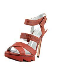 Camilla Skovgaard | Brown Strap Sandal Stiletto W/ Sa Leather Platform Heel | Lyst