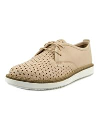 Clarks | Natural Glick Resseta Women Round Toe Leather Nude Oxford | Lyst