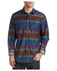 Robert Graham | Blue Vatican Hill Long Sleeve Woven Shirt Classic Fit for Men | Lyst
