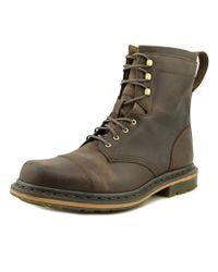 Dr. Martens | Sabien Men Round Toe Leather Brown Boot for Men | Lyst