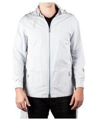 Prada | Gray Men's Poplin Tec Zip Trench Jacket Coat Windbreaker Ash Grey for Men | Lyst