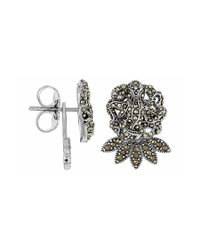 Jan Leslie - Metallic Octopus Earrings With Sea Petal Drop Accent: The Stardust Pavé Jewelry Collection - Lyst