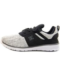 DC Shoes - Heathrow Se Women Round Toe Canvas Black Skate Shoe - Lyst