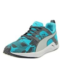 PUMA | Pulse Xt Graphic Men Round Toe Canvas Blue Running Shoe for Men | Lyst