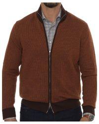 Robert Talbott - Brown Downy Ii Merino Sweater for Men - Lyst