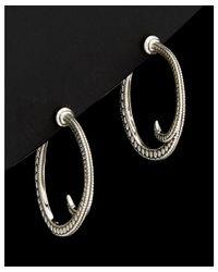 Scott Kay - Metallic Silver Hoop Earrings - Lyst