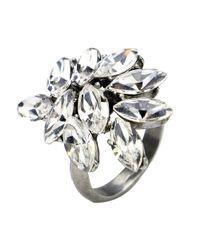 Ben-Amun - Metallic Ben Amun Swarovski Crystal Cluster Ring - Lyst