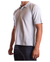 Dirk Bikkembergs - Gray Men's Mcbi097018o Grey Silk Polo Shirt for Men - Lyst