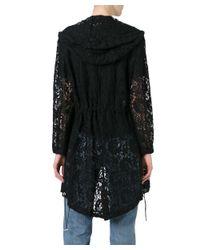 Moschino - Women's Black Silk Coat - Lyst
