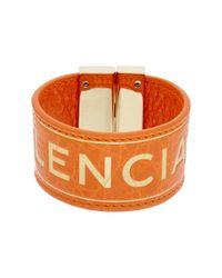 Balenciaga | Orange Blanket Leather Bracelet | Lyst