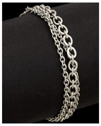 Lois Hill - Metallic Classic Silver Toggle Bracelet - Lyst