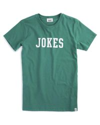 Sleepy Jones - Green Jokes T-shirt for Men - Lyst