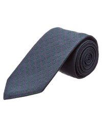 Gucci - Blue Navy & Green Bee Silk Tie for Men - Lyst