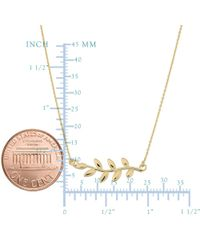 JewelryAffairs - 10k Yellow Gold Olive Leaf Pendant Necklace, 18 - Lyst