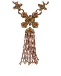 Heidi Daus - Metallic Glama Rama Crystal Necklace - Lyst