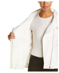 Lamarque - White Zip Front Leather Jacket - Lyst