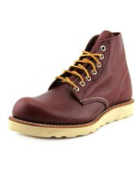 """Red Wing - Classic Work 6"""" Men Round Toe Leather Brown Work Boot for Men - Lyst"""
