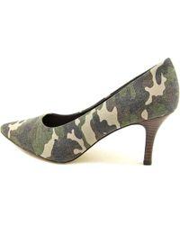 Bella Vita - Green Define W Pointed Toe Canvas Heels - Lyst