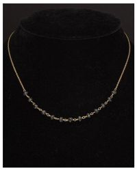 Argento Vivo | Metallic 18k Over Silver Black Spinel Necklace | Lyst