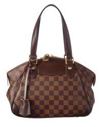 Louis Vuitton | Brown Damier Ebene Canvas Verona Pm | Lyst