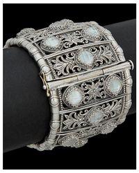 Konstantino   Metallic Aura Silver 31.50 Ct. Tw. Gemstone Doublet Bracelet   Lyst