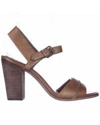 Frye - Brown Portia Seam Vintage Peep-toe Pumps - Camel - Lyst