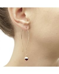 Jewelista - Pink Pyramid Cabochon Amethyst Long Wire Earrings - Lyst