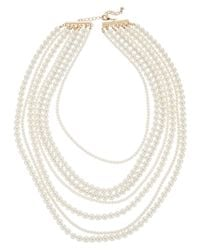 Kenneth Jay Lane - Metallic Plated 2-5mm Pearl Necklace - Lyst
