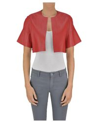 Pinko - Women's Red Polyester Jacket - Lyst