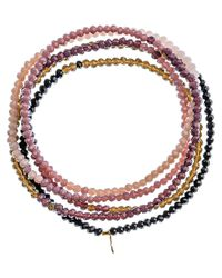 Shashi - Multicolor Crystal Convertible Stretch Bracelet & Necklace - Lyst