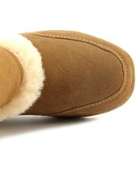 BEARPAW - Eskimo Women Round Toe Suede Brown Winter Boot - Lyst